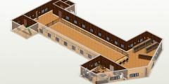 2a våningen med öppning i mitten mellan räcket