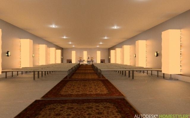 Asa-tempel i Sverige Salen