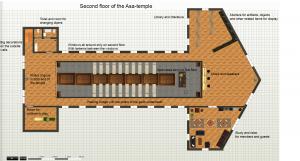 Övervåning i Asa-centrum