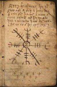 Symbollexikon: Ægishjálmr / Ægishjálmur / Skräckhjälm i Galdrabók