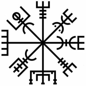 Symbollexikon: modern design på Vegvisir