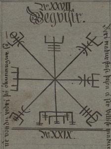 Symbollexikon: Vegvisir från Huld Manuscript
