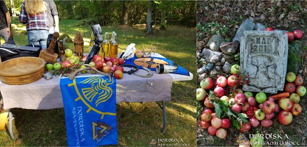 Allting med Höstblot och Gille Sjögestad altarbord och harg