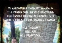 Tillkännandegivande: NAS har en ny Riksblotsansvarig, Thommy Vähäsalo