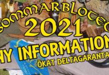Uppdaterad information sommarblotet 2021